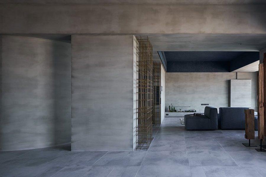Odă minimalistă din beton, dedicată naturii