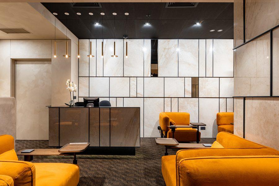 Interiorul Business Lounge-ului Aeroportului Internațional Chișinău, premiat la nivel internațional